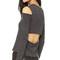 Monrow open back cutout tee - black