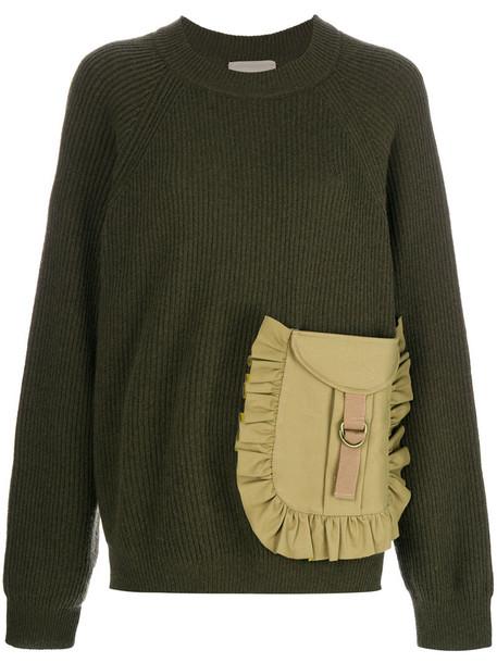 Erika Cavallini jumper women cotton wool green sweater