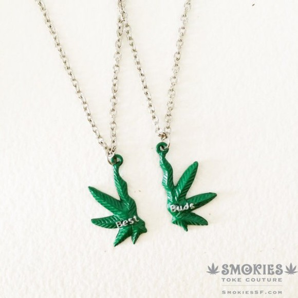 jewels cool hipster green weed necklace pretty little liars miley cyrus hippie punk stoner