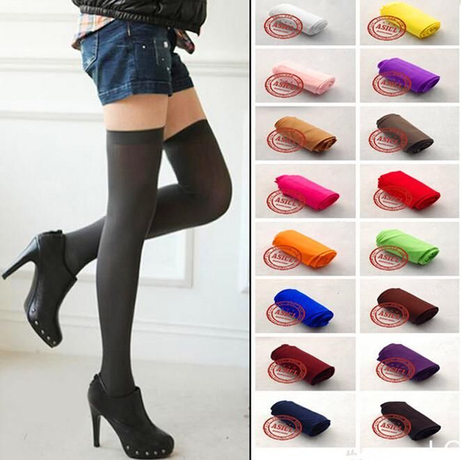 LO Sexy Womens Lady Girls Fashion Opaque Knit Over Knee Thigh High Stocking Sock