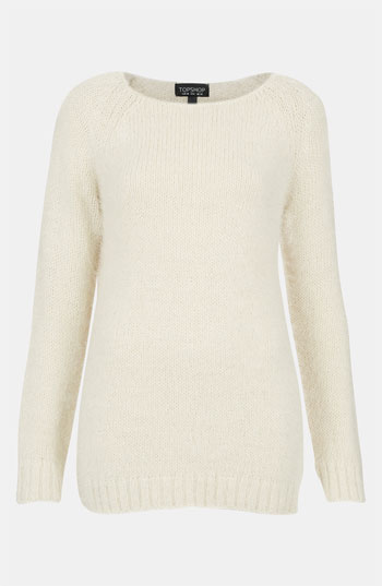 Topshop feather knit sweater