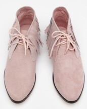 pink shoes,shoes,suede shoes,blush pink,fringe shoes