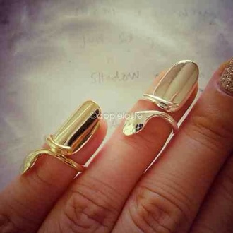 jewels gold nails ring gold ring