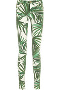 MICHAEL Michael Kors|Palm-print mid-rise skinny jeans |NET-A-PORTER.COM