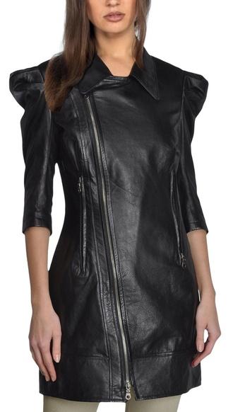jacket leather jacket leather black zip zipper jacket long jacket peter pan collar collar coat coat jacket collar jacket