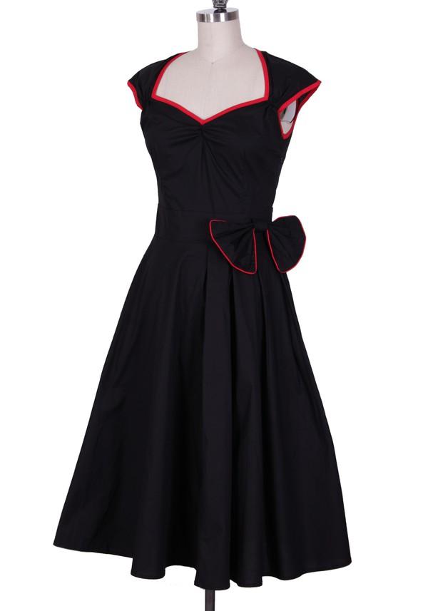 1950s dress cute dress party dress swing dress rockabilly rockabilly style black dress vintage dress 50s dress retro dress retro vintage audrey hepburn