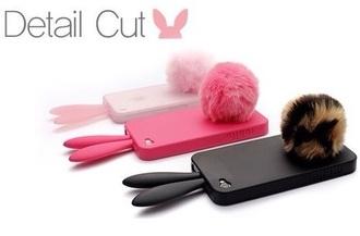 phone cover bunny fur tumblr