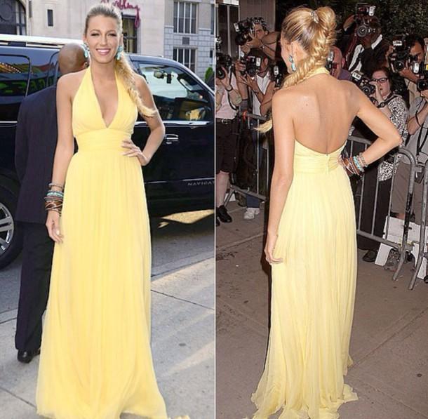 dress blake lively yellow dress