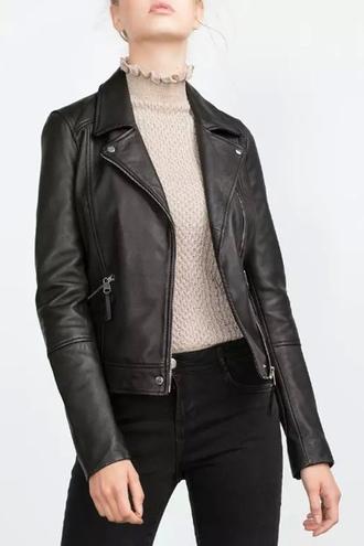 jacket zaful leather leather jacket black black jacket