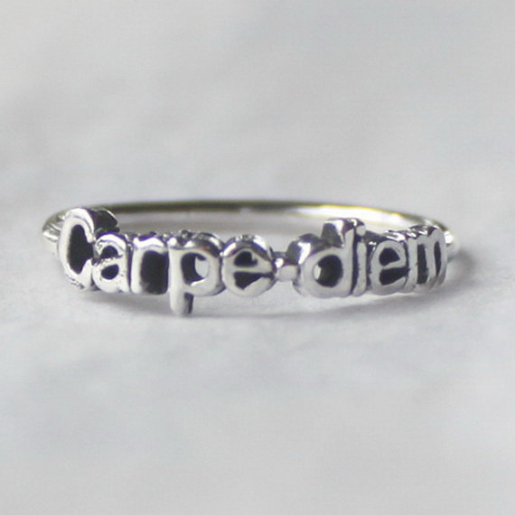 Sterling silver Carpe diem Ring 'Seize the day' by HeartCoreDesign