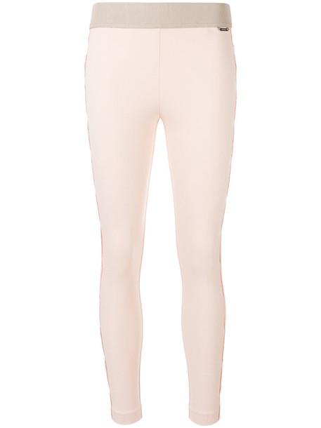 Twin-Set women spandex lace nude pants