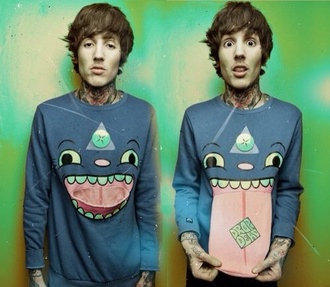 sweater color celebrity fashion brend blue wow monster acid pink boy girl shoes t-shirt bag face vintage dress menswear