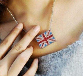 jewels chain white blue bling read silver silver chain english chain english love london chain disco chain perls england english flag english london london look disco lovely 155373 diamands