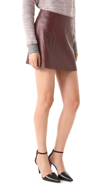 by Alexander Wang Leather A Line Miniskirt | SHOPBOP