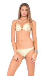 top,bikini top,halter neck,tie strings,gold,luli fama,pushup,underwire,bikiniluxe,pushupcups