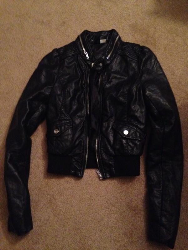 jacket h&m black leather jacket faux leather biker jacket motorcycle jacket c motorcycle jacket clubwear streetwear streetstyle