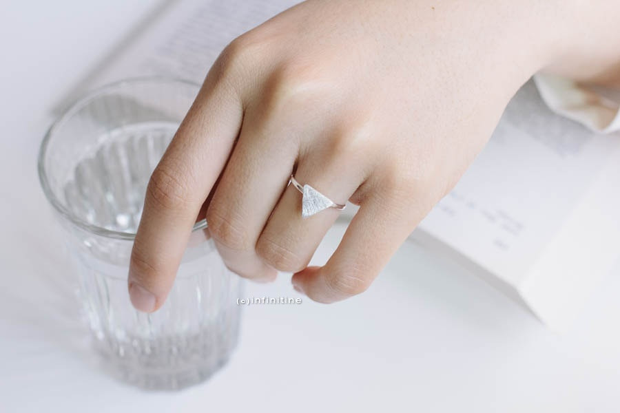 triangle plate ring,R038N