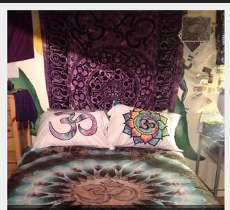hippie bedding dress pillow trippy