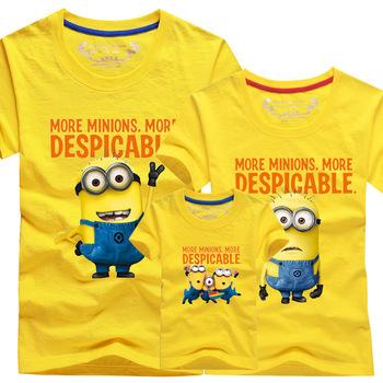 Aliexpress Com Buy Family Matching Outfits Minion T Shirt Causal