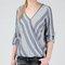 Hamptons stripe crossover blouse