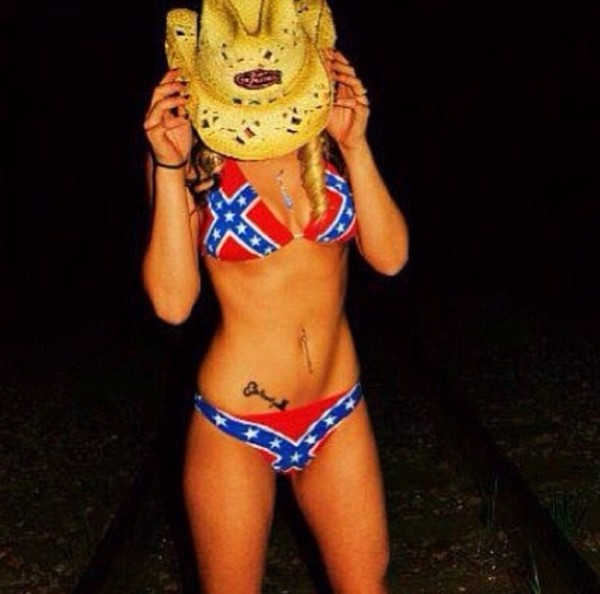 swimwear rebel bikini rebel cowboy hat