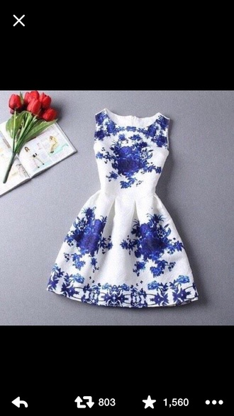 dress floral dress blue dress white dress
