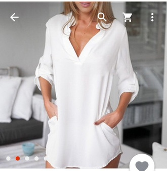top white top white t-shirt summer dress