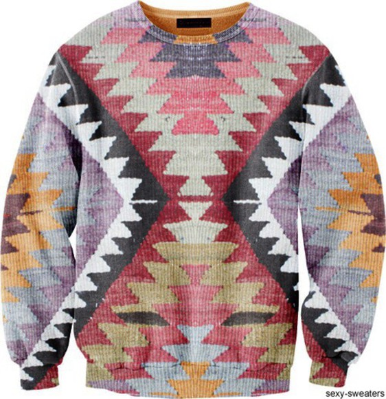 print aztec tribal pattern