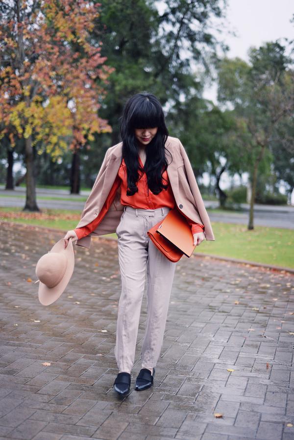 pale division make-up jacket bag shoes