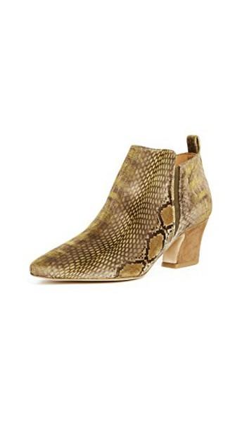 miista booties velvet snake shoes