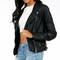 Sleep swiping leather jacket