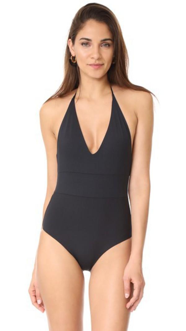 Tavik Swimwear Chase One Piece Swimsuit in black
