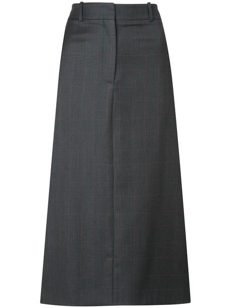 CALVIN KLEIN 205W39NYC skirt women midi silk wool grey