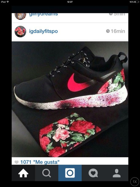 shoes instagram nike roshes floral