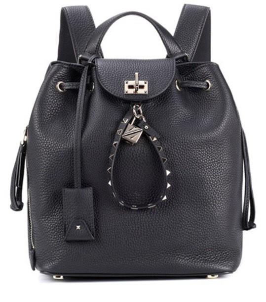 Valentino backpack leather backpack leather black bag