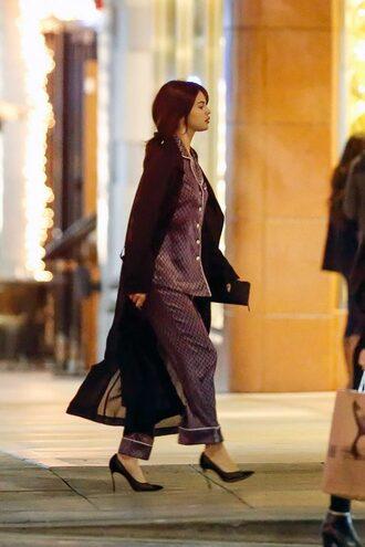 pants blouse pumps selena gomez coat pajamas