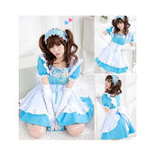dress,blue servant,girl cosplay costume,lolita dress,maid suit,servant girl