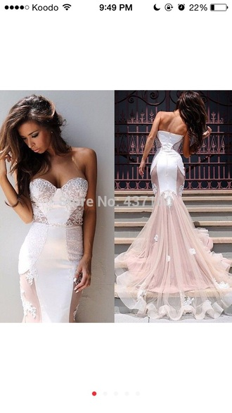 dress white lace wedding wedding dress prom dress