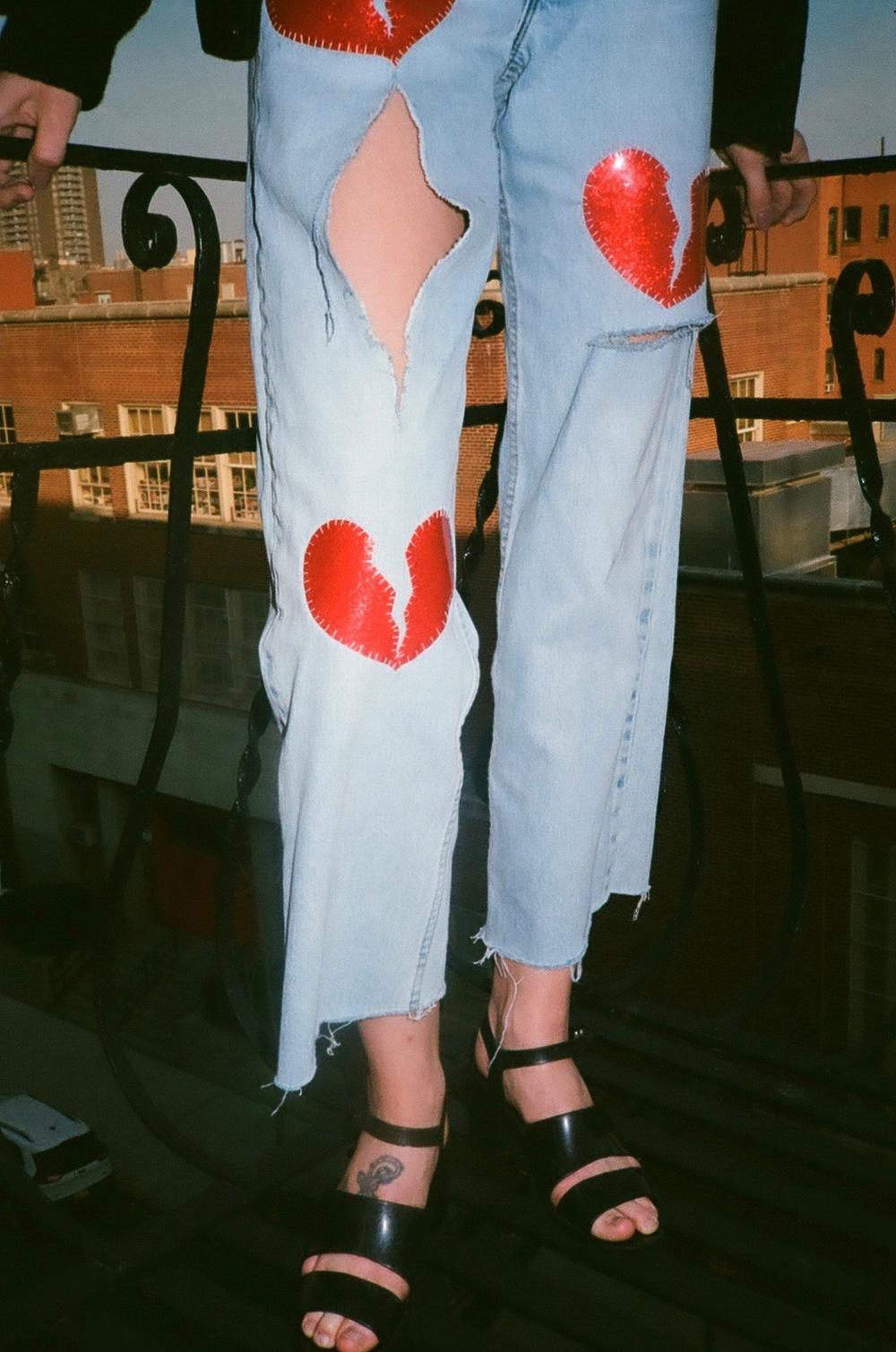 Broken Hearted Custom Fit Jeans