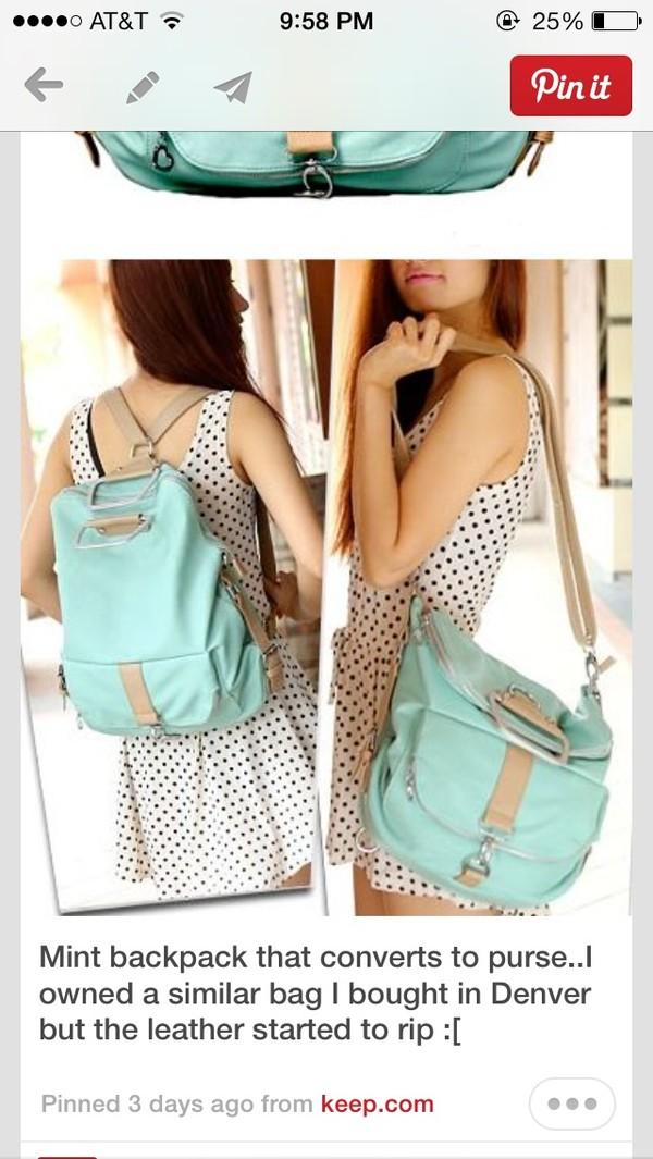 bag purse backpack changing