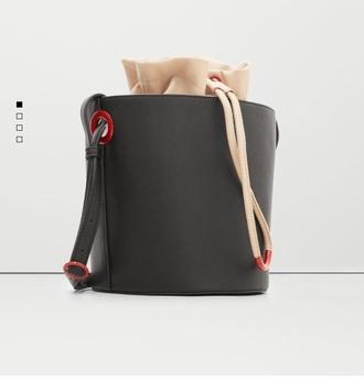 bag black red nude crossbody bag bucket bag women crossbody bag