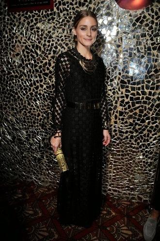 dress lace dress olivia palermo fashion week 2014 maxi dress