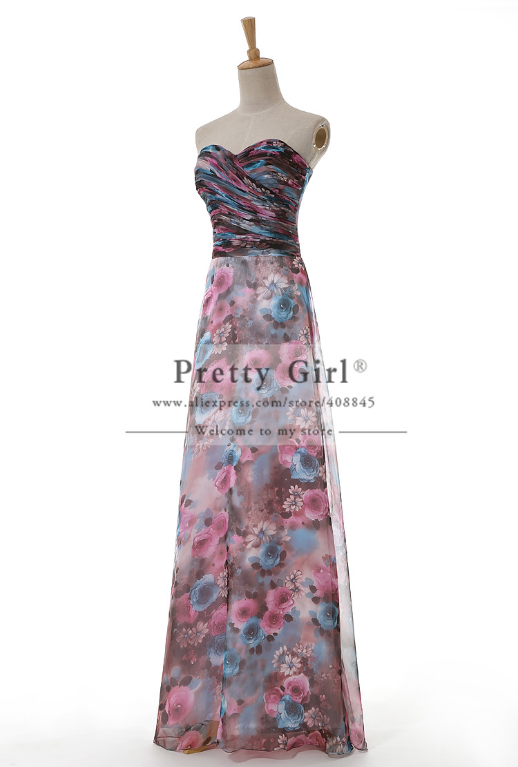Aliexpress.com : buy real photo vestido de renda 2015 sweetheart backless flower printed chiffon long prom dresses abendkleider evening party dress from reliable dress long sleeve tunic dress suppliers on pretty girl trade co., ltd
