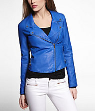(minus the) leather crop biker jacket