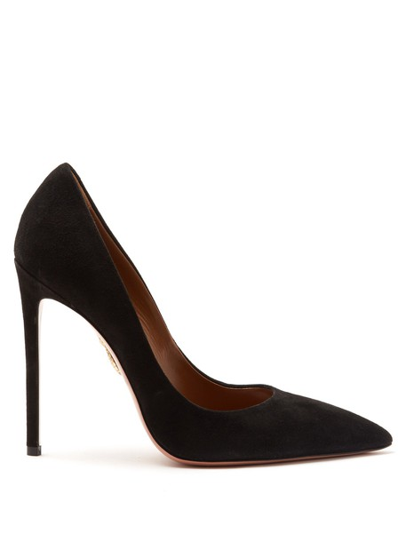 Aquazzura suede pumps pumps suede black shoes
