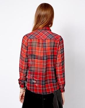 New Look | Клетчатая рубашка с рукавом 3/4 New Look на ASOS