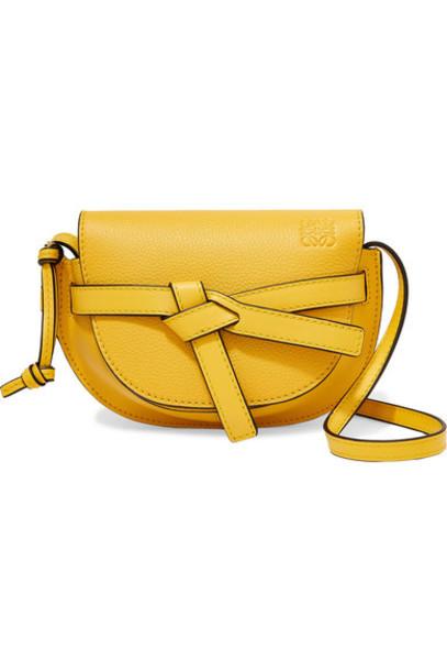 Loewe - Gate Mini Textured-leather Shoulder Bag - Bright yellow