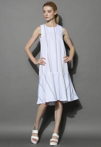 dress ultra chic ruffled shift dress in white chicwish chicwish.com white dress shift dress summer dress
