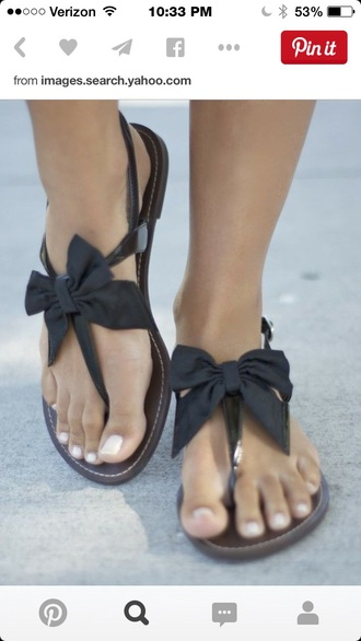 shoes hipster black shoes bow cute sandals