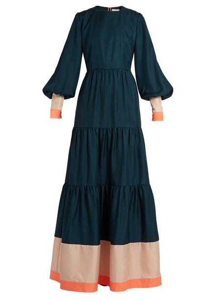 Roksanda dress silk dress silk green